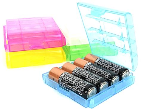 Plastic AA/AAA Battery Cases (12pk)