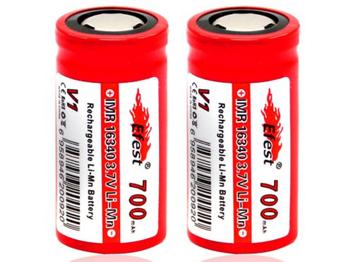 Efest IMR 16340 3.7V 700mAh Rechargeable Flat Top Battery (Single Pack)