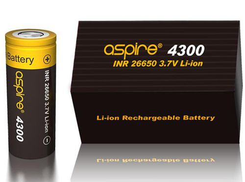 Aspire INR 26650 4300mAh 3.7V Li-ion High Drain Flat Top Battery