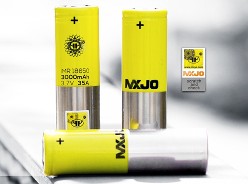 MXJO IMR 18650 3000mAh 35A 3.7V Flat Top High Drain Battery