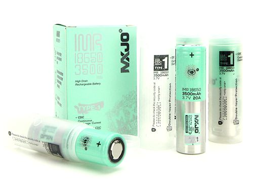 MXJO IMR 18650 3500mAh 20A 3.7V High Drain Flat Top Batteries (4pcs)