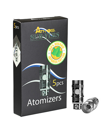 Authentic Atmos Sub-Vers Tank 0.5 Ω Replacement Dual Coil Head (Set of 5)