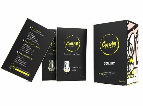 Clapton Combo - CoilArt CTCL Coils for Joyetech Tron, E-Vic Kit, eGo One (5pk)
