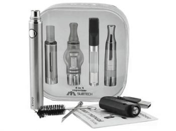 Subtech EVOD 4-in-1 Vaporizer Starter Kit E-Liquid/Dry Herb/Wax/Thick Oil