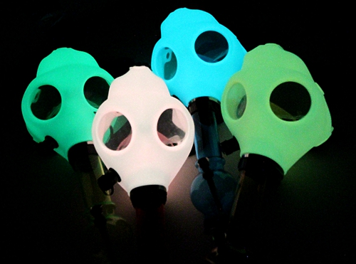 Glow In The Dark Silicon Water Pipe Gas Mask The Leading