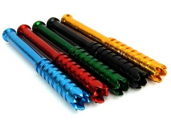 "3"" Anodized Aluminum One Hitter Pipe with Grinder Teeth (10pk)"