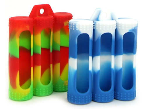 3 x 18650 Battery Silicone Protective Sleeve Case (set of 5)