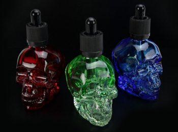 60mL Skull Shaped Glass Dropper Bottle