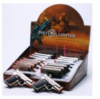 Metal DOUBLE Torch Gun lighter/4pc