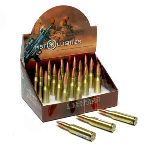 Bullet shaped refillable Lighter /set of 4