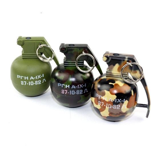 Camo Hand Grenade Metal Refillable Lighter /4 pcs