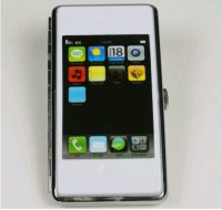 iPhone Cigarette Case white/black
