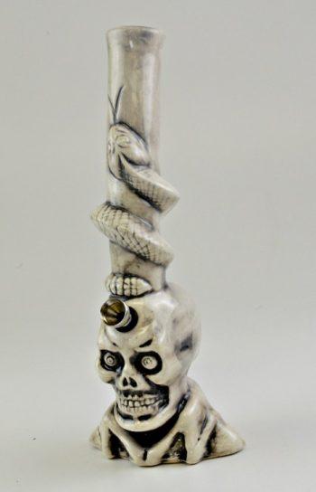 """Ceramic Figurine Water Pipe - 11"""""""