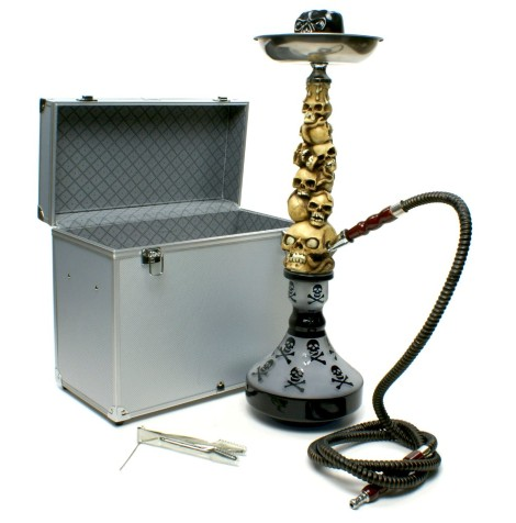 "23 ""Skull Hookah with carry case"