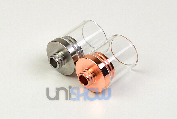 Clear Pyrex 22 mm Large Bore Hurricane Drip Tips