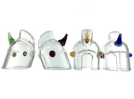 "1"" Clear Glass Helmet Carb Cap"