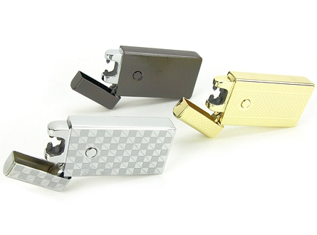 USB Rechargeable Battery Electric Pulse Arc Flameless Metal Lighter