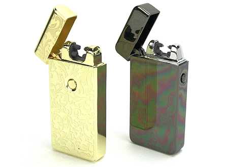 USB Rechargeable Battery Electric Pulse Arc Flameless Metal Light