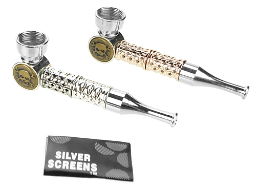 "3.5"" Metal Pipe with 5 Silver Screens"