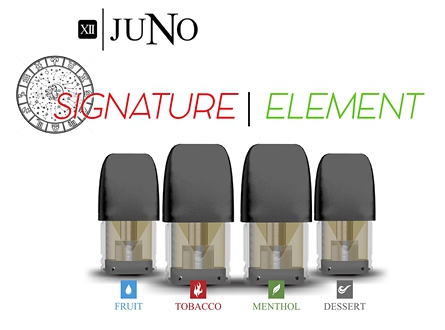 Twelve Juno 1.6mL E-Liquid Pods - Element Collection & Signature Collection (4pcs)