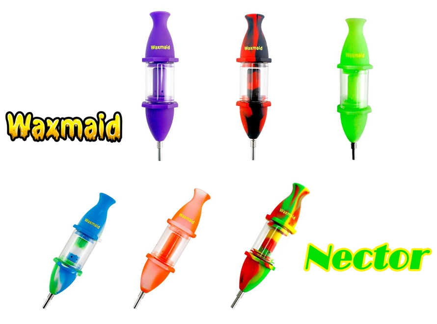 Waxmaid Nector 8 Quot Silicone Glass Titanium Nector Collector