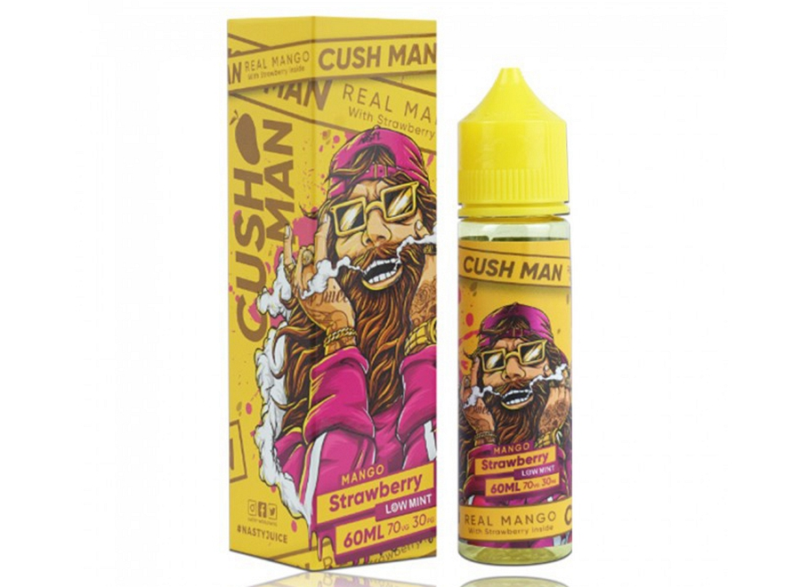 Cush Man Series Low Mint 60mL E-Liquid by Nasty Juice - Mango Strawberry
