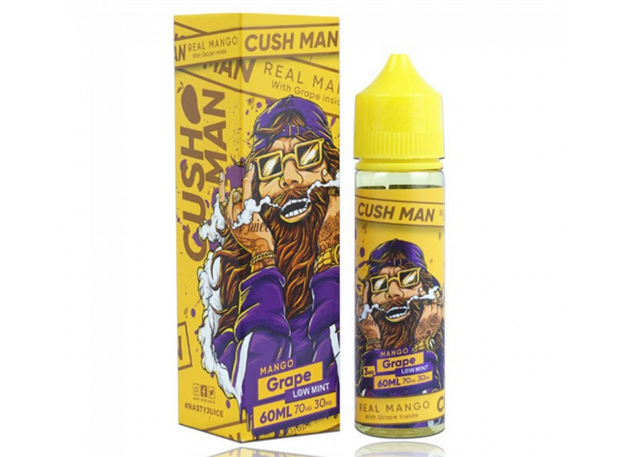 Cush Man Series Low Mint 60mL E-Liquid by Nasty Juice - Mango Grape
