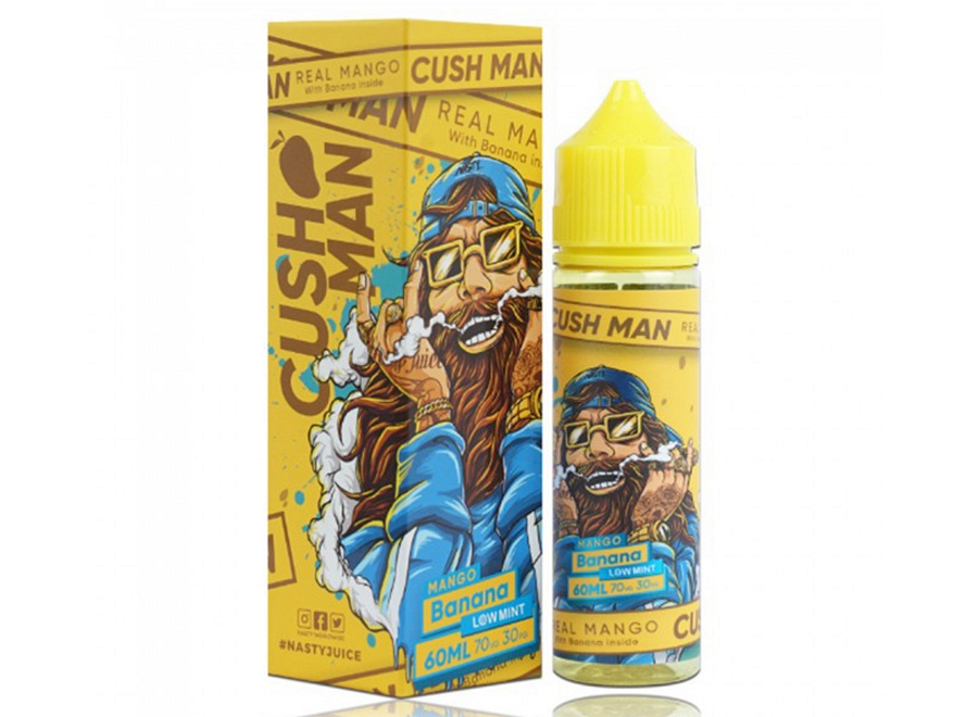 Cush Man Series Low Mint 60mL E-Liquid by Nasty Juice - Mango Banana