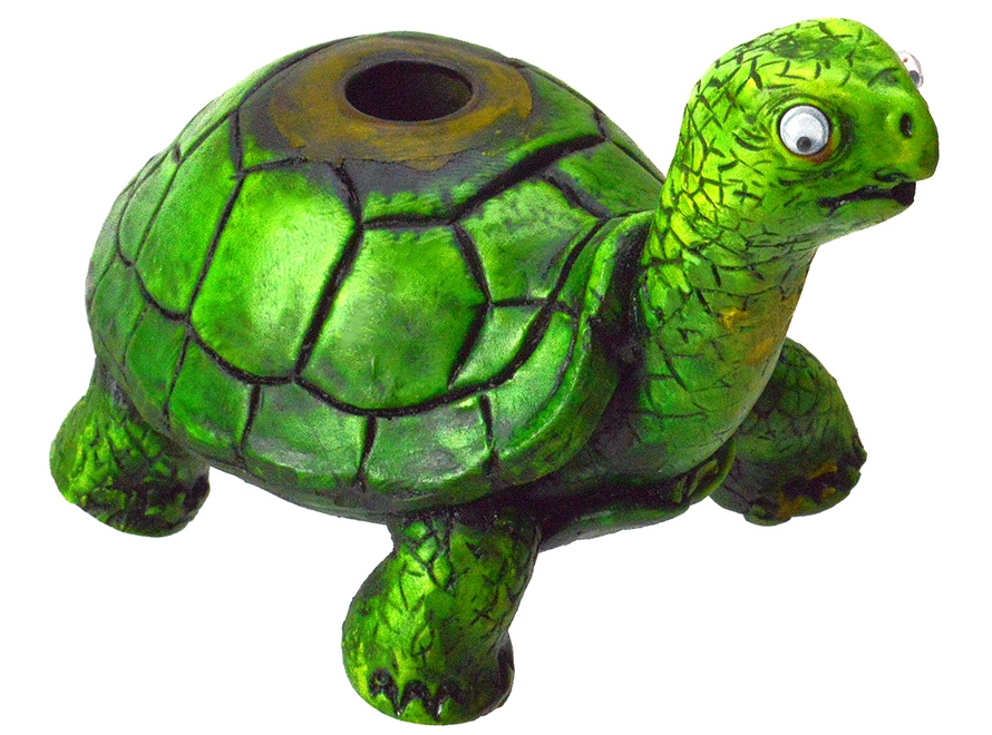 Hand Crafted Turtle Resin Smoking Pipe
