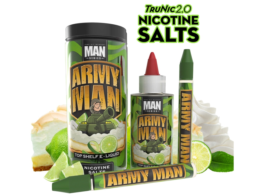 One Hit Wonder Man Series TruNic 2.0 Nicotine Salts 100mL E-Liquid – Army Man