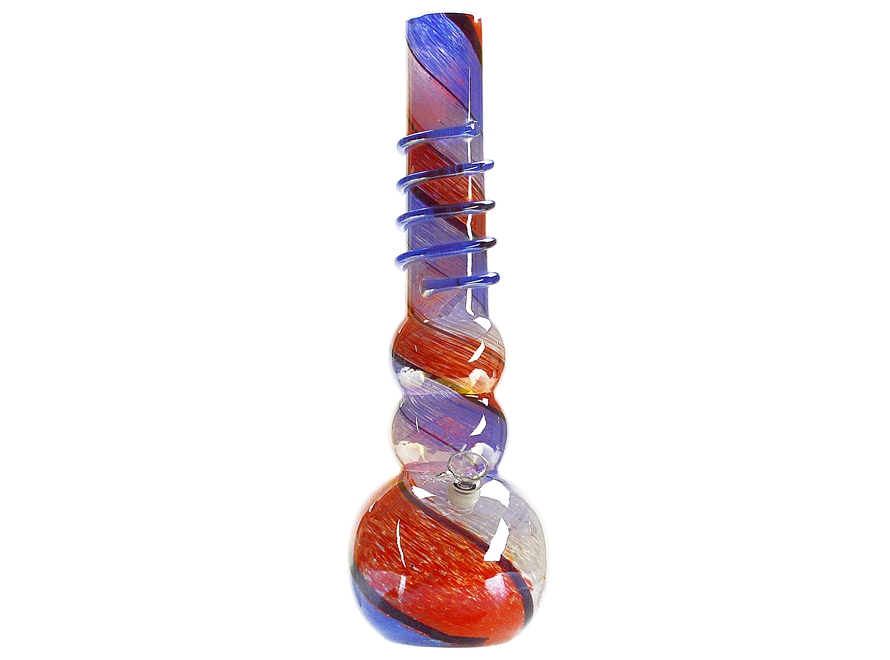 16″ Hand Blown Soft Glass Smoking Water Pipe