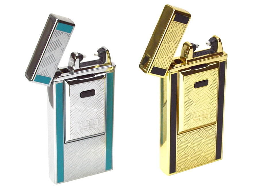Tiger USB Rechargeable Windproof Flameless Electric Plasma Single Arc Lighter