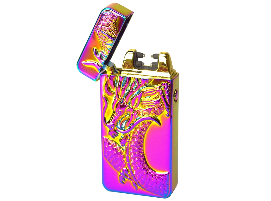 Dragon USB Rechargeable Windproof Flameless Electric Plasma Dual Arc Lighter