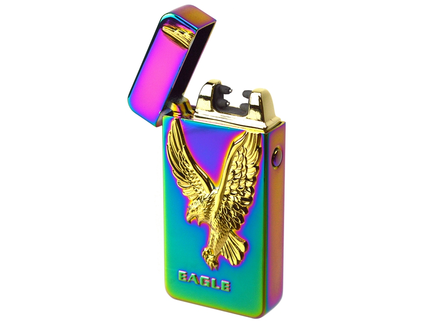 Eagle USB Rechargeable Windproof Flameless Electric Plasma Dual Arc Lighter