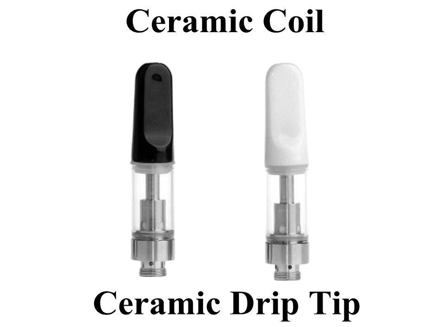 CE3 Bud Touch Ceramic Drip Tip Wickless Ceramic Coil 510 Thread Atomizer Tank