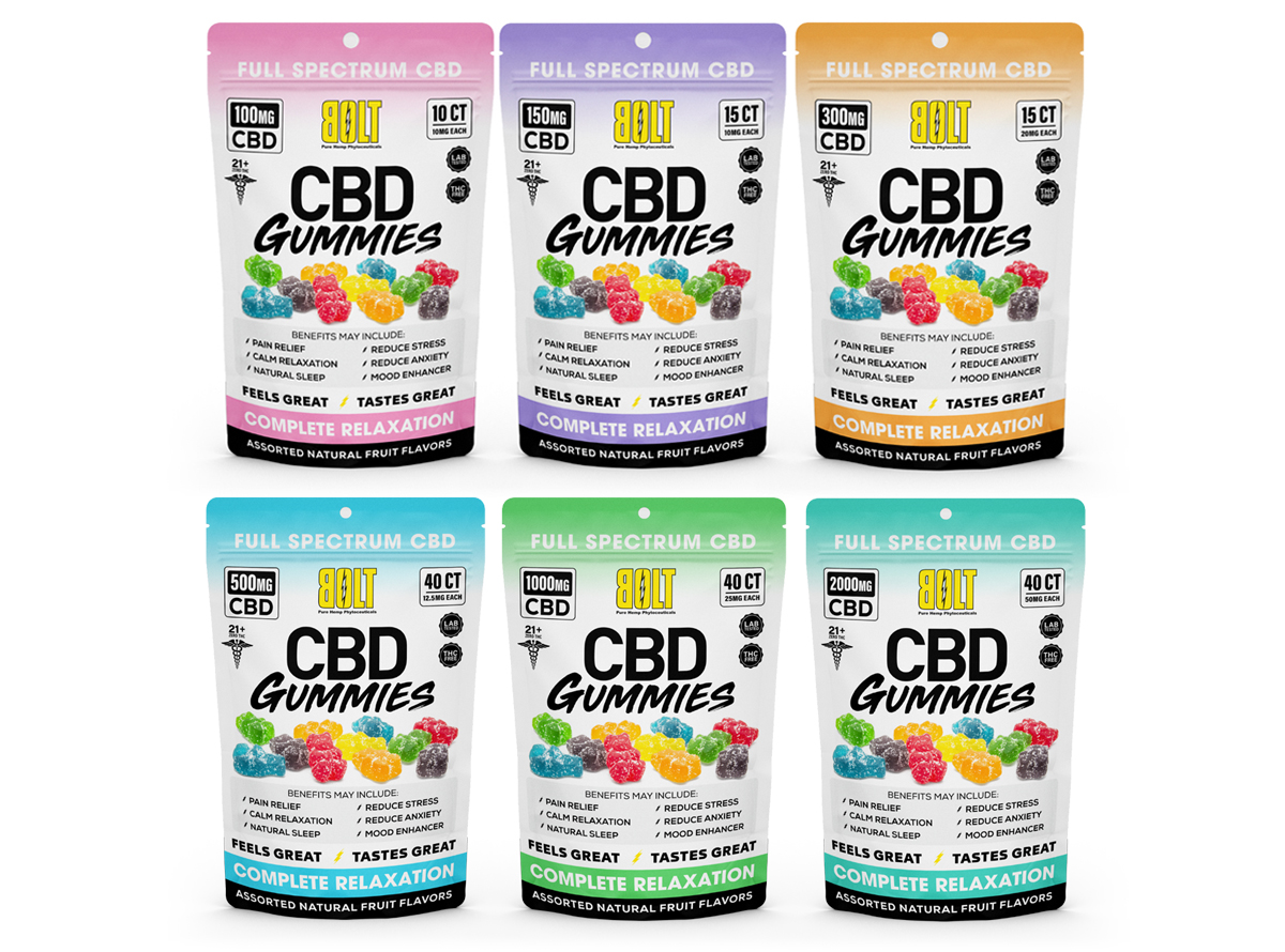 Bolt CBD Gummies Bag