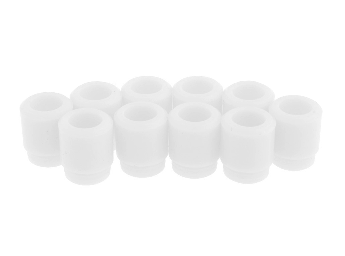 Silicone 810 Drip Tip White Color (25pcs)